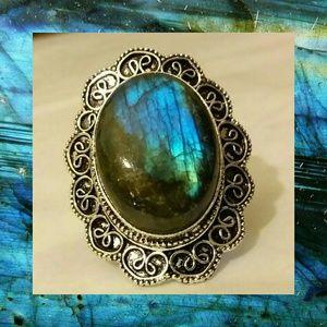 Top Quality Labradorite Handmade Vintage Ring
